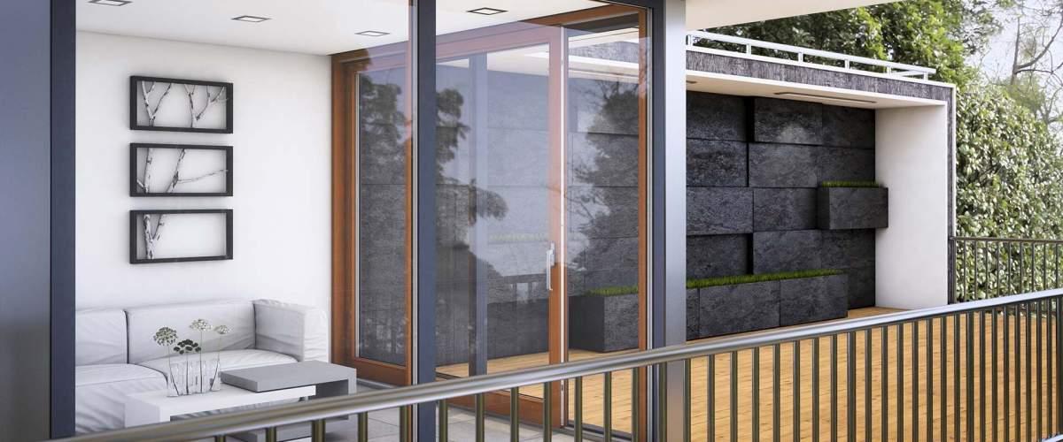 Terrassentüren Hebe-Schiebe-Tür Holz-Aluminium-System
