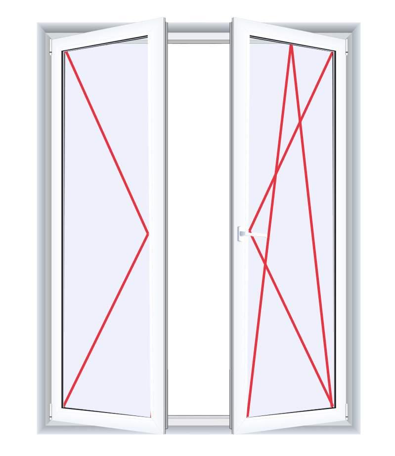 Kunststoff Balkonturen Ein Und Zweiflugelig Fenstermaxx24 Com