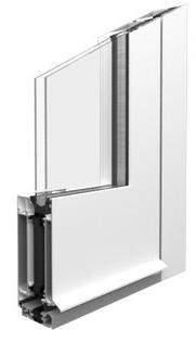 Haustür aus Aluminium - Detail