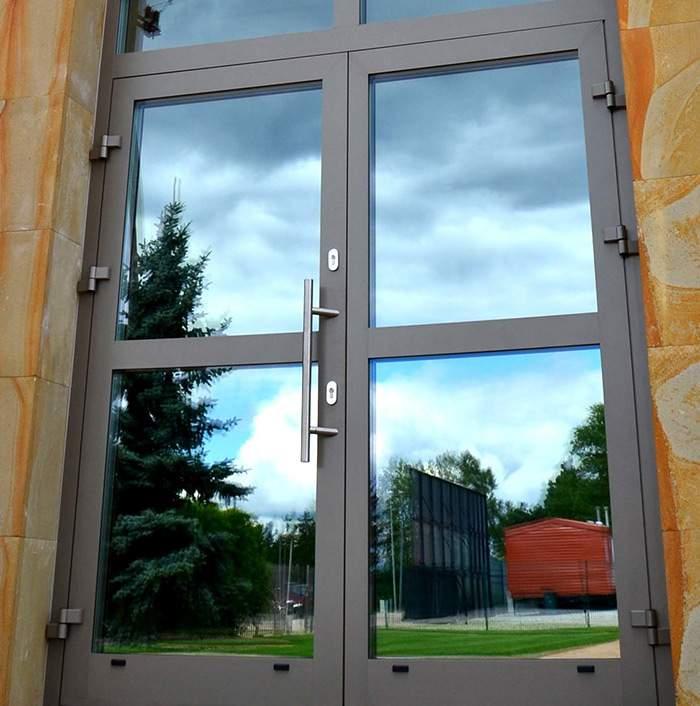 Haustür aus Aluminium