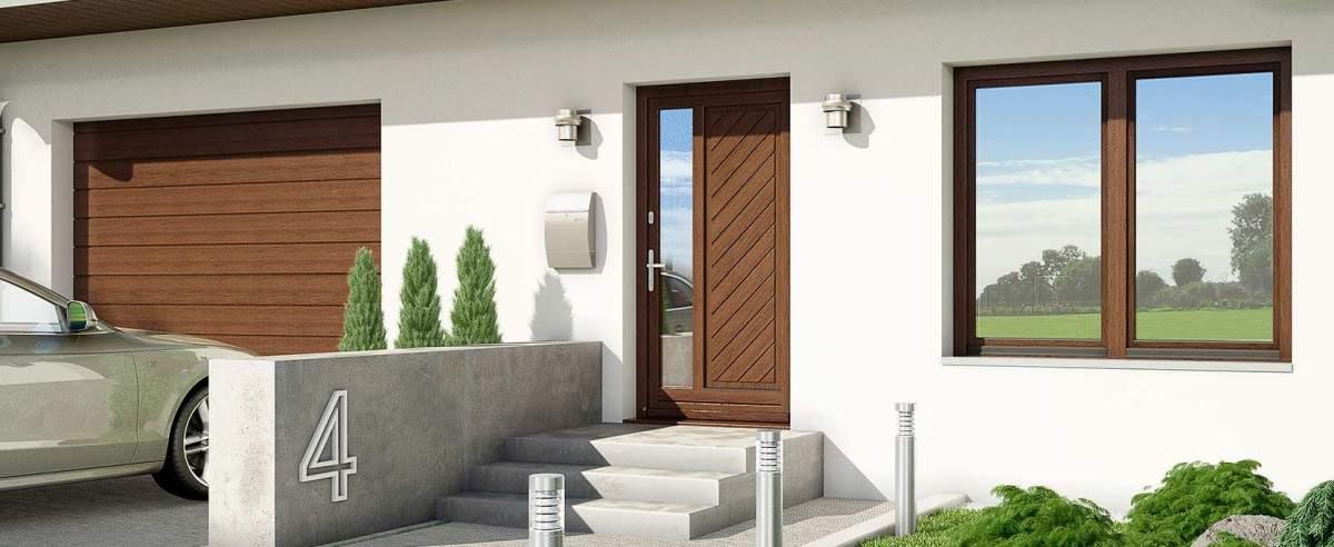 anspruchswolle Haustür aus Holz