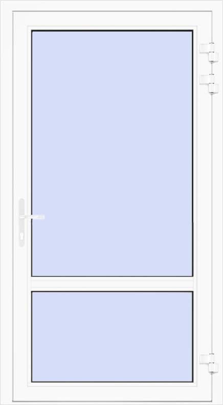 Nebeneingangstüren Kunststoff - Nebeneingangstür aus Kunststoff (PVC)