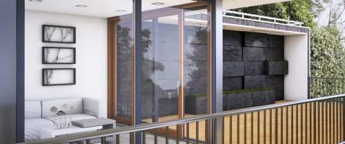 Hebe-Schiebe Türen Holz-Aluminium -