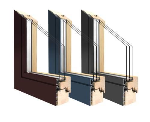 Balkontüren Holz-Aluminium -