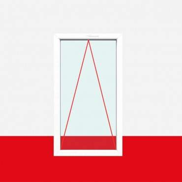 Einflügelig, 2fach-Verglasung, Kipp (K), Griff oben, Breite 1100mm
