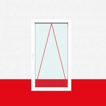 Einflügelig, 2fach-Verglasung, Kipp (K), Griff Links, Breite 600mm