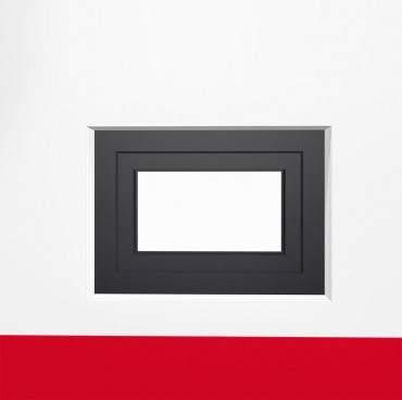 Kellerfenster DK FF 2-fach weiß/anthrazit