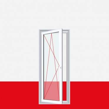 Kunststoff Balkontür Terassentür Dreh-Kipp Links (DKL), Breite 700mm