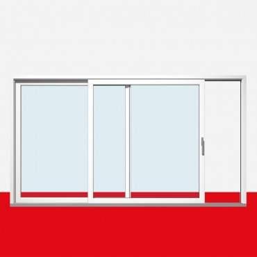 Hebe-Schiebe-Tür nach links öffnend, Breite 3400mm