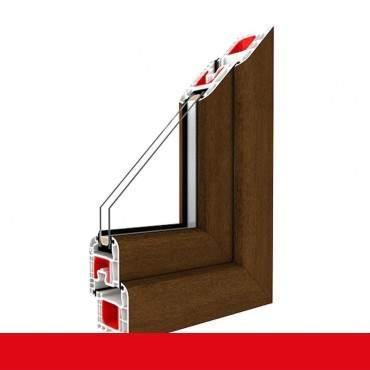 Kunststofffenster nussbaum 2178007 Dreh Kipp 2-fach 3-fach Verglasung alle Größen