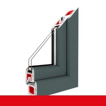 Kunststofffenster basaltgrau 701205 Dreh Kipp 2-fach 3-fach Verglasung alle Größen