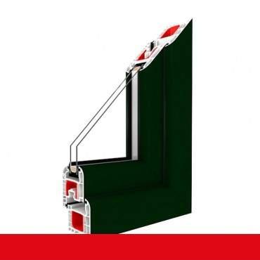 Kunststofffenster dunkel grün 612505 Dreh Kipp 2-fach 3-fach Verglasung alle Größen