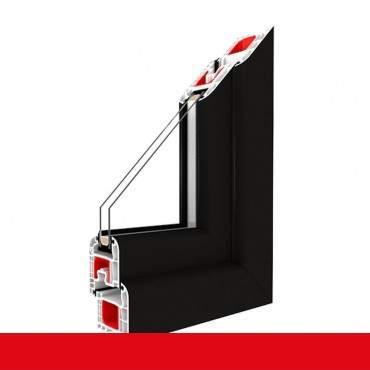 Kunststofffenster light black Dreh Kipp 2-fach 3-fach Verglasung alle Größen
