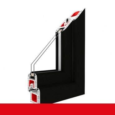 Kunststofffenster schwarzbraun Dreh Kipp 2-fach 3-fach Verglasung alle Größen