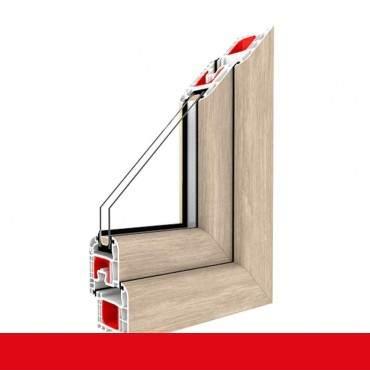 Kunststofffenster sheffield oak light Dreh Kipp 2-fach 3-fach Verglasung alle Größen