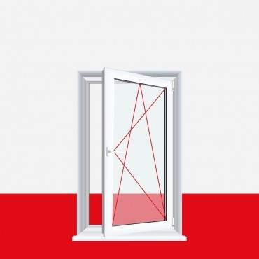 Kunststofffenster Aluminium Gebürstet Dreh Kipp 2-fach 3-fach Verglasung alle Größen ? Bild 2