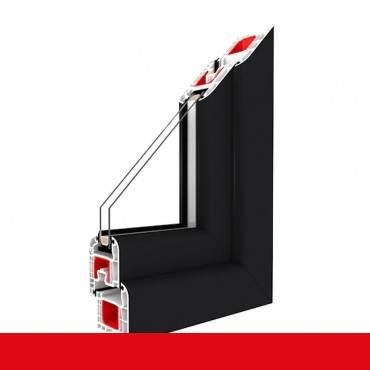 Kunststofffenster anthrazitgrau glatt Dreh Kipp 2-fach 3-fach Verglasung alle Größen