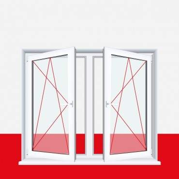 2-flügliges Kunststofffenster Betongrau Dreh-Kipp / Dreh-Kipp mit Pfosten ? Bild 2