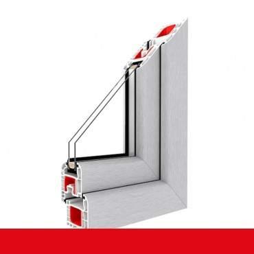 3-flügliges Kunststofffenster DKL/Fest/DKR Aluminium Gebürstet ? Bild 1