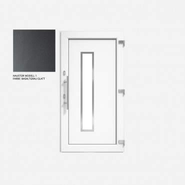 Kunststoff Haustür IGLO 5 Modell 1 basaltgrau glatt  ? Bild 1
