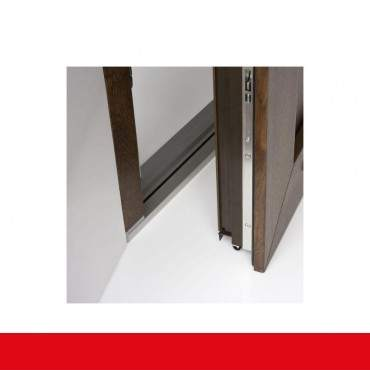 Kunststoff Haustür IGLO 5 Modell 1 aluminium gebürstet ? Bild 9