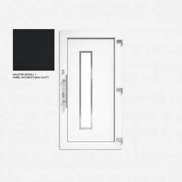Kunststoff Haustür IGLO 5 Modell 1 anthrazit glatt ? Bild 1