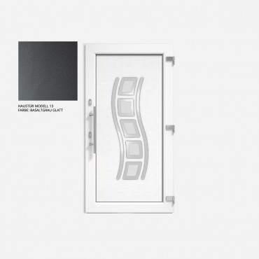 Kunststoff Haustür IGLO 5 Modell 13 Basaltgrau Glatt ? Bild 1
