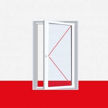 Kunststofffenster Dreh (ohne Kipp) Fenster Aluminium Gebürstet ? Bild 3