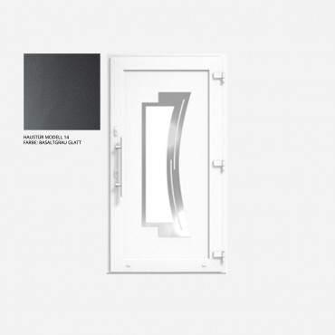 Kunststoff Haustür IGLO 5 Modell 14 Basaltgrau Glatt ? Bild 1