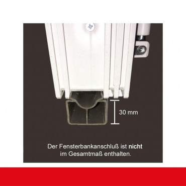 2-flüglige Balkontür Kunststoff Stulp Aluminium Gebürstet  ? Bild 6