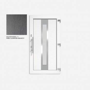 Kunststoff Haustür IGLO 5 Modell 11 Aluminium Gebürstet ? Bild 1