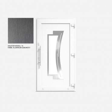 Kunststoff Haustür IGLO 5 Modell 14 Aluminium Gebürstet ? Bild 1