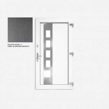 Kunststoff Haustür IGLO 5 Modell 9 Aluminium Gebürstet ? Bild 1