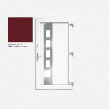Kunststoff Haustür IGLO 5 Modell 9 Cardinal Platin ? Bild 1