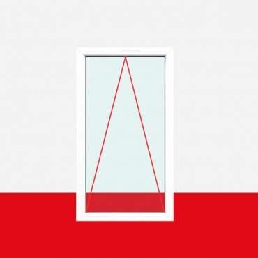 Kipp Fenster Milchglas (matte Folie) 1 flg. Kipp Kunststofffenster (ohne Dreh)