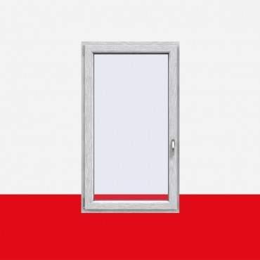 Kunststofffenster Aluminium Gebürstet (Innen und Außen) Dreh Kipp Fenster 1 flg. ? Bild 1