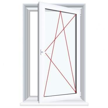 Kunststofffenster Aluminium Gebürstet (Innen und Außen) Dreh Kipp Fenster 1 flg. ? Bild 5