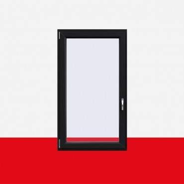 Kunststofffenster Anthrazitgrau Glatt (Innen und Außen) Dreh Kipp Fenster 1 flg. ? Bild 1