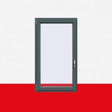 Kunststofffenster Basaltgrau Glatt (Innen und Außen) Dreh Kipp Fenster 1 flg. ? Bild 1