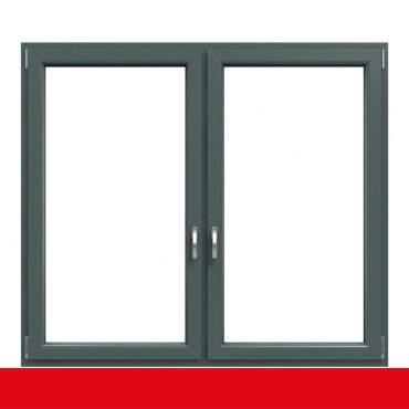 2-flügliges Kunststofffenster Basaltgrau (Innen und Außen) Dreh-Kipp / Dreh-Kipp mit Pfosten ? Bild 1