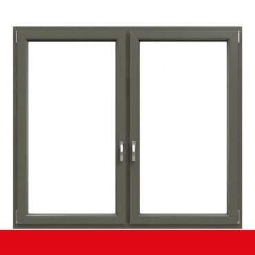 2-flügliges Kunststofffenster Basaltgrau Glatt (Innen und Außen) Dreh-Kipp / Dreh-Kipp mit Pfosten ? Bild 1