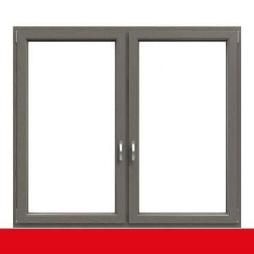 2-flügliges Kunststofffenster Betongrau (Innen und Außen) Dreh-Kipp / Dreh-Kipp mit Pfosten ? Bild 1