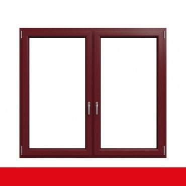 2-flügliges Kunststofffenster Cardinal Platin (Innen und Außen) Dreh-Kipp / Dreh-Kipp mit Pfosten ? Bild 1
