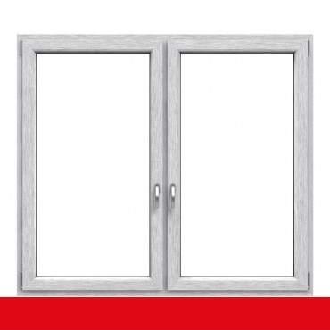 2-flügliges Kunststofffenster Aluminium Gebürstet (Innen und Außen) Dreh-Kipp / Dreh-Kipp mit Pfosten ? Bild 7