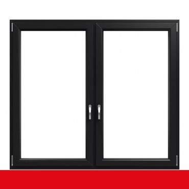 2-flügliges Kunststofffenster Anthrazitgrau Glatt (Innen und Außen) Dreh-Kipp / Dreh-Kipp mit Pfosten ? Bild 1