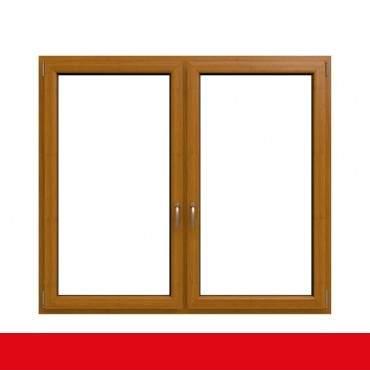 2-flügliges Kunststofffenster Bergkiefer (Innen und Außen) Dreh-Kipp / Dreh-Kipp mit Pfosten ? Bild 1