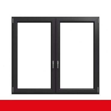 2-flügliges Kunststofffenster Crown Platin (Innen und Außen) Dreh-Kipp / Dreh-Kipp mit Pfosten ? Bild 1