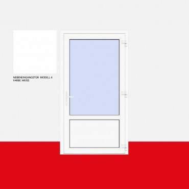 Nebeneingangstür Modell 4 Weiß ? Bild 1