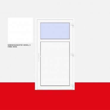 Nebeneingangstür Modell 5 Weiß ? Bild 1