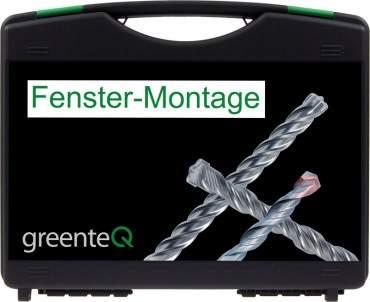 greenteQ Fenster-Montagekoffer Bohrer Bits Magnethalter 34-teilig Fenstermontage ? Bild 1